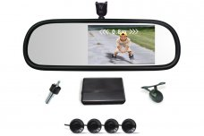 Mirror Style Parking Radar w/ 5 Inch HD Touch Screen