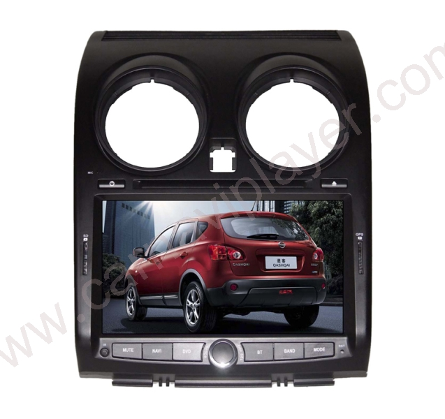nissan qashqai 8 inch aftermarket navigation dvd player. Black Bedroom Furniture Sets. Home Design Ideas