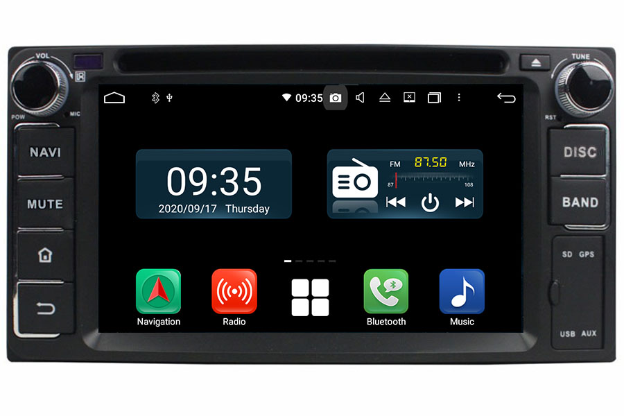 Android OS Double Din Navigation head unit For Toyota Series
