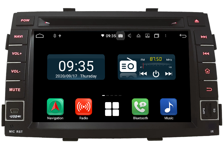 Aftermarket Navigation radio for For Kia Sorento 2009-2012