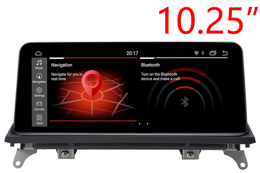 BMW X5(E70)/X6(E71/E72) GPS Radio upgrade with 10 25 screen