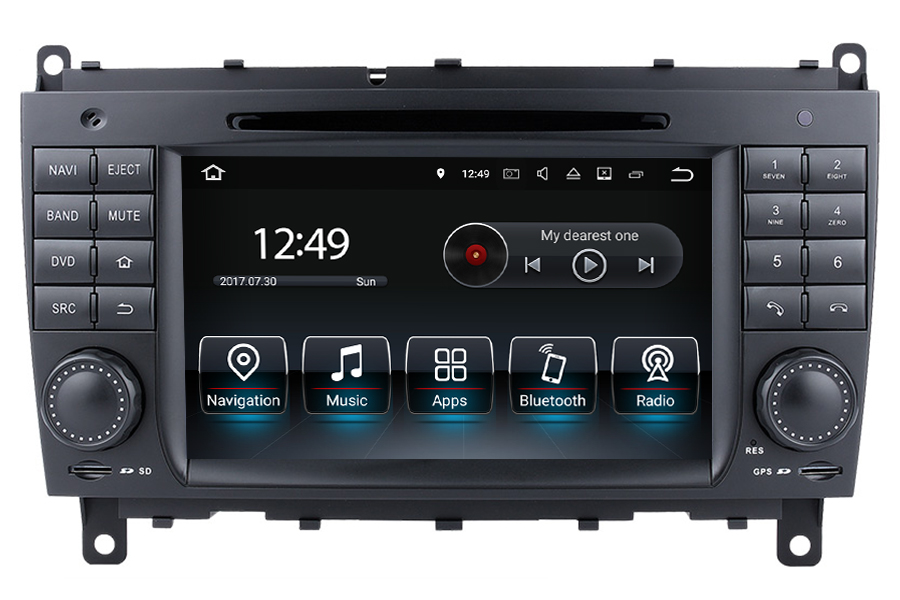 Mercedes benz clk w209 cls w219 radio upgrade for Mercedes benz stereo upgrade