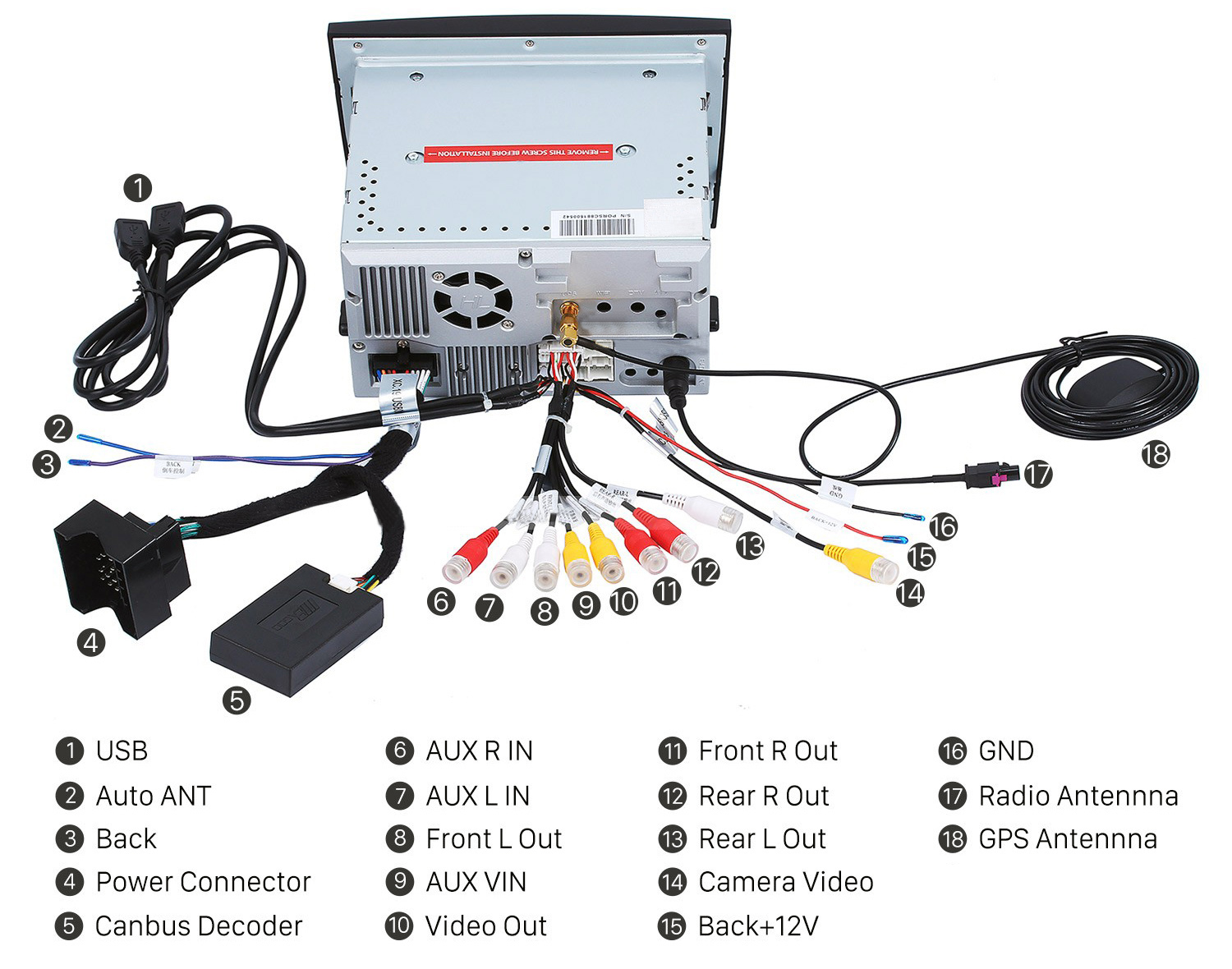 Android Head Unit Canbus Decoder