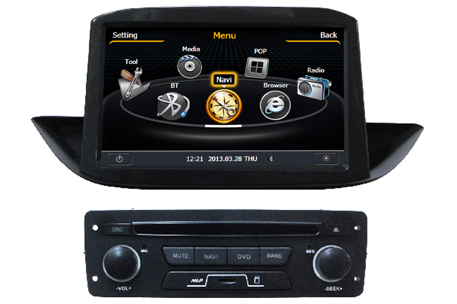 Peugeot 308 2013 Navigation Radio Player