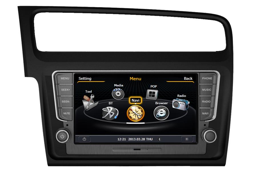 aftermarket gps navigation car stereo for vw golf 7 2013 2015. Black Bedroom Furniture Sets. Home Design Ideas