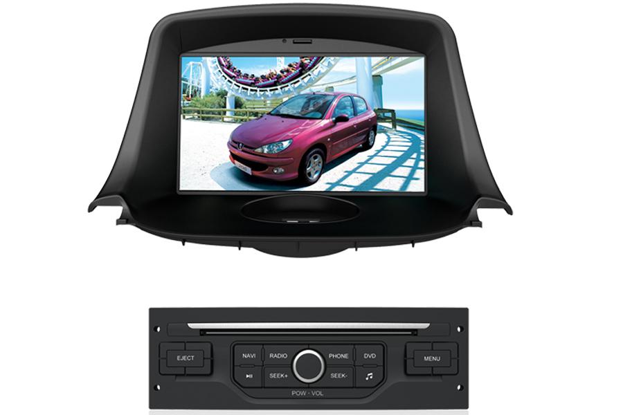 peugeot 206 autoradio gps dvd navigation system. Black Bedroom Furniture Sets. Home Design Ideas