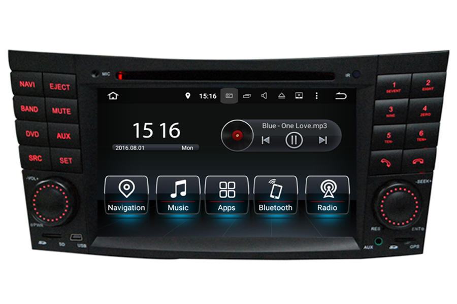 Mercedes benz clk w209 cls w219 e w211 aftermarket navigation for Mercedes benz stereo upgrade