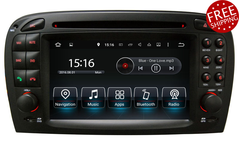 Mercedes benz sl r230 2001 2005 aftermarket navigation player for Mercedes benz stereo upgrade
