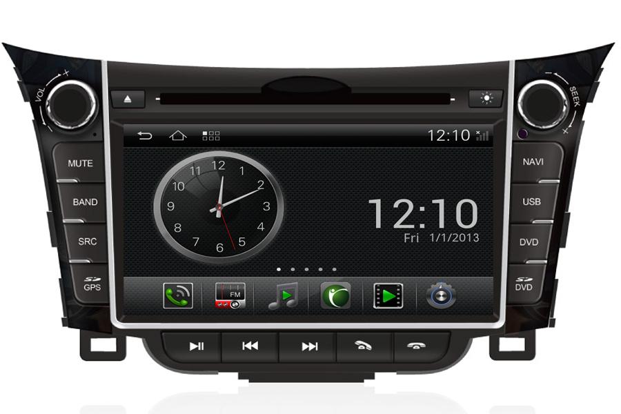 android os navigation radio player for hyundai i30 2013. Black Bedroom Furniture Sets. Home Design Ideas