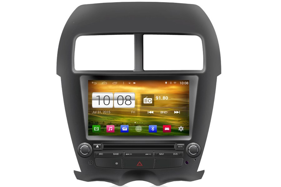 mitsubishi asx rvr 2010 2012 navigation auto radio. Black Bedroom Furniture Sets. Home Design Ideas