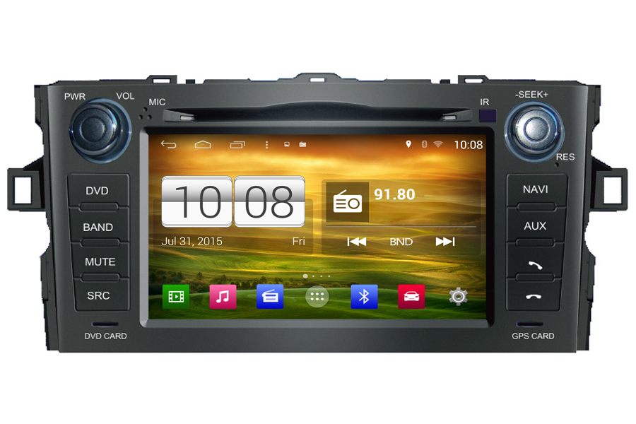Android Os Navigation Radio Player For Toyota Auris 2007