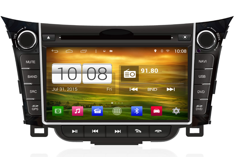 android os navigation radio player for hyundai i30 2013. Black Bedroom Furniture Sets. Home Design Ideas
