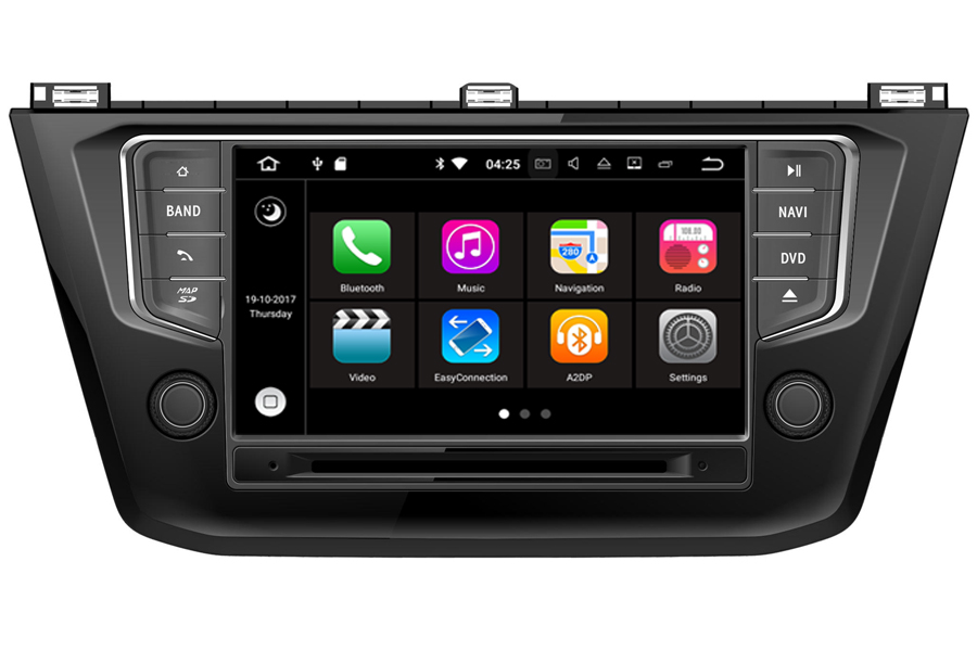 volkswagen 8 inch screen aftermarket gps navigation head unit. Black Bedroom Furniture Sets. Home Design Ideas