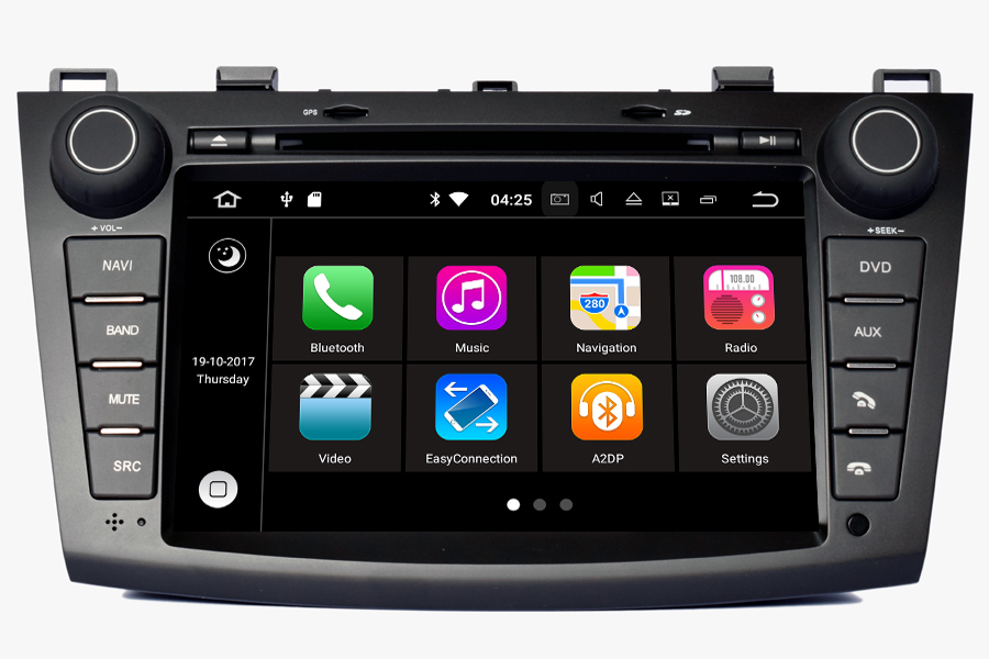 aftermarket navigation auto radio for mazda 3 2010 2013. Black Bedroom Furniture Sets. Home Design Ideas