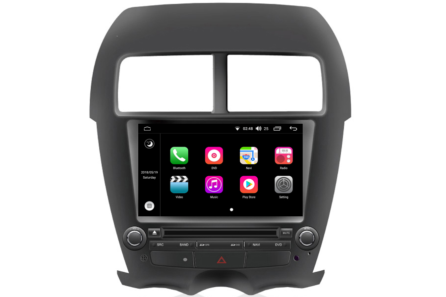 mitsubishi asx rvr 2010 2012 navigation system. Black Bedroom Furniture Sets. Home Design Ideas
