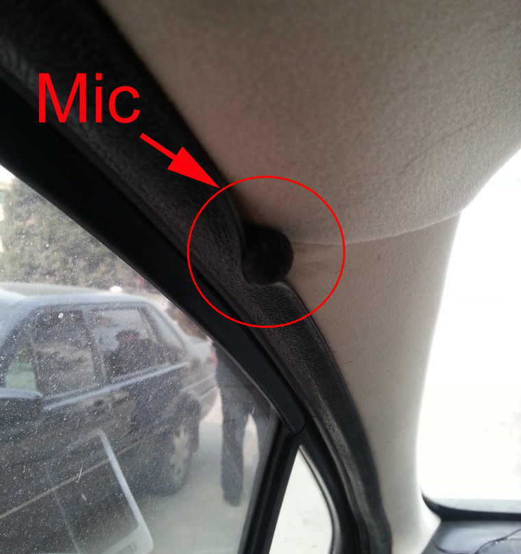mounte mic on vehicle