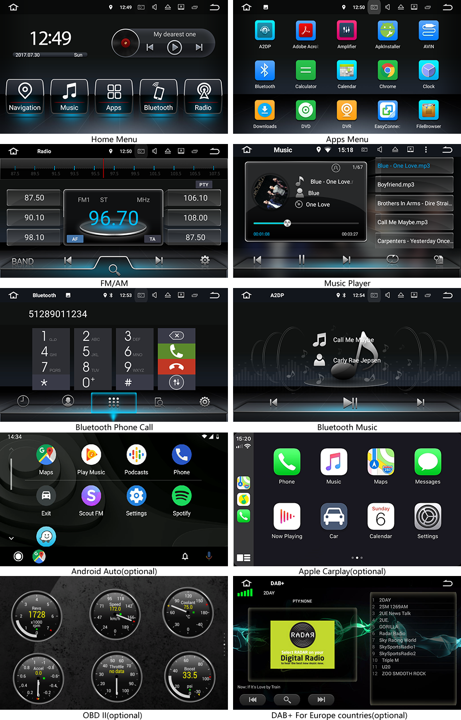 Android 8.0 OS Navigation Radio Player For mercedes benz