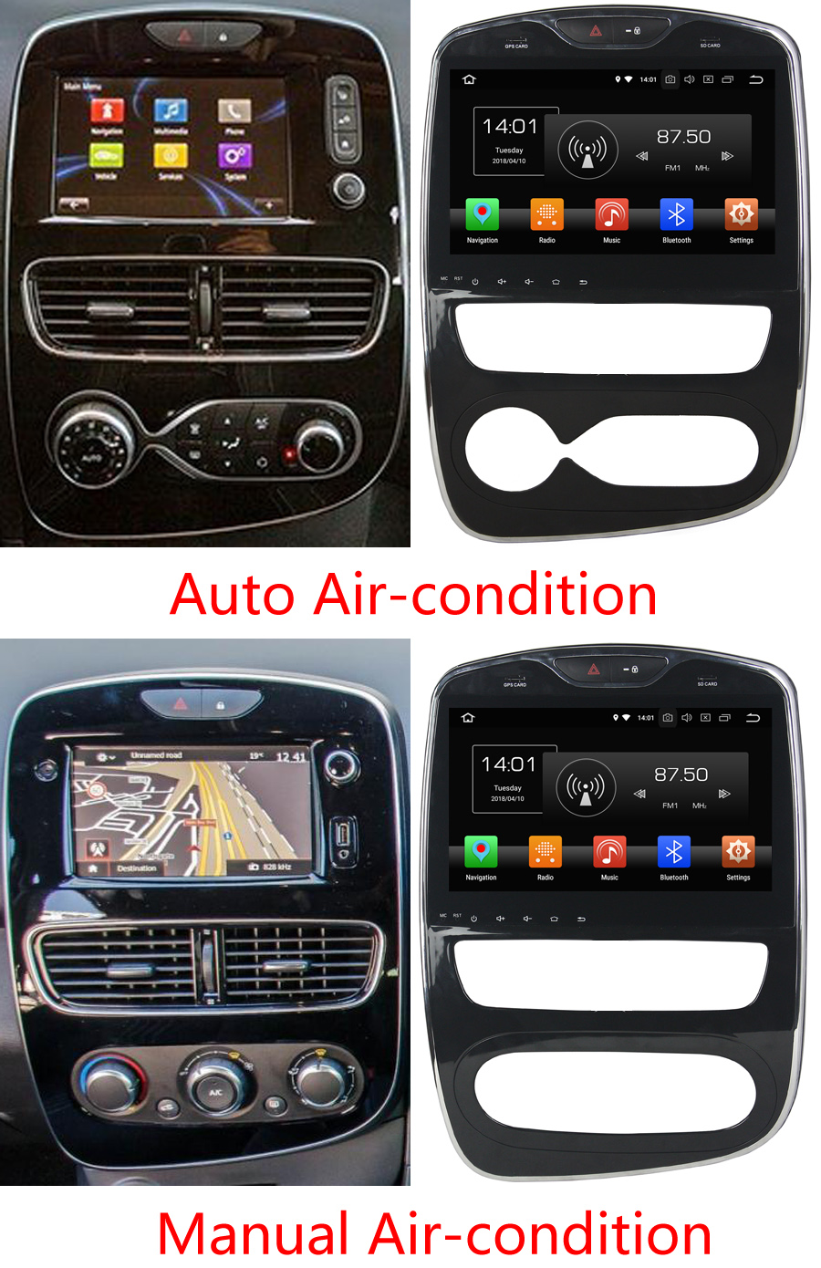 aftermarket navigation auto radio for renault clio 2017. Black Bedroom Furniture Sets. Home Design Ideas