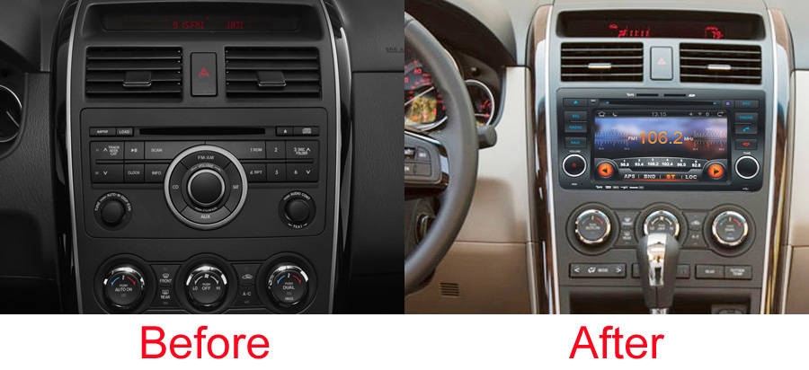 mazda cx 9 aftermarket navigation autoradio. Black Bedroom Furniture Sets. Home Design Ideas