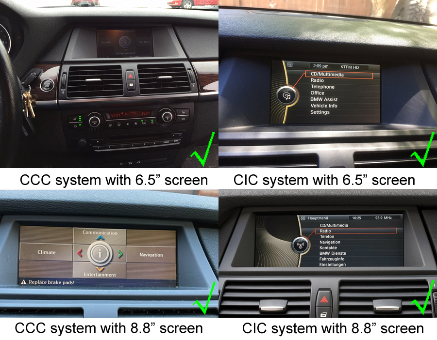 BMW X5(E70) X6(E71/E72) Navigation Head Unit