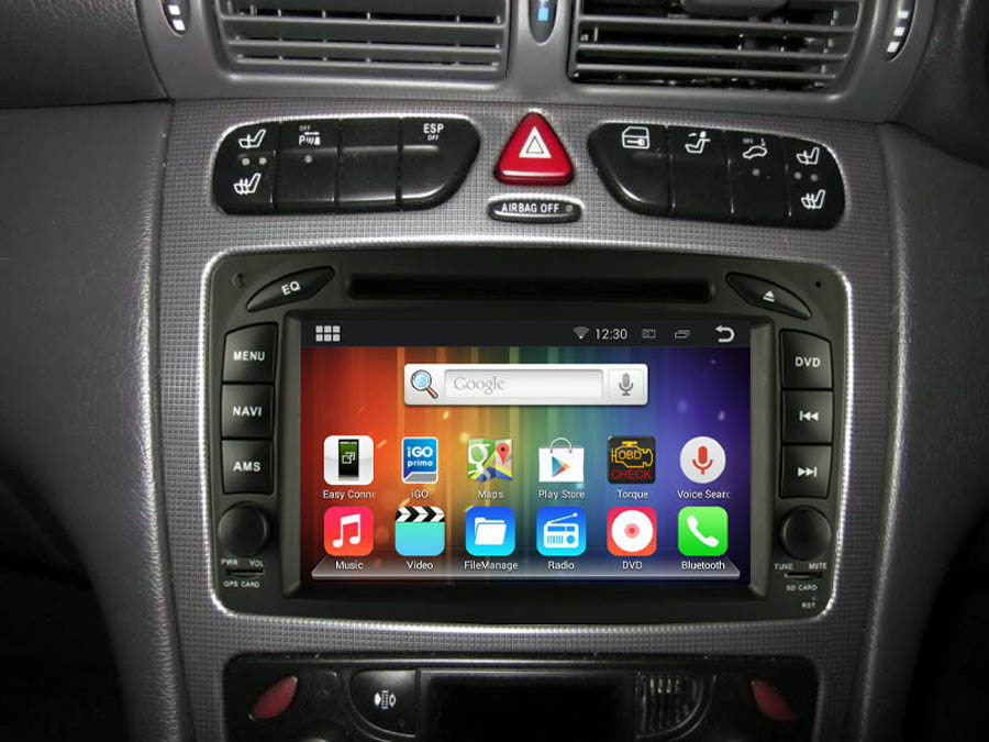 Mercedes benz a c clk e g m ml slk gps navigation car for Mercedes benz audio upgrades