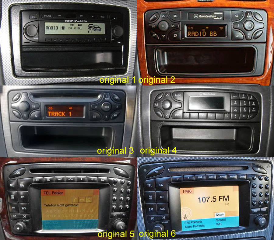 Mercedes-Benz A/C/CLK/E/G/M/ML/S Aftermarket Navigation Player