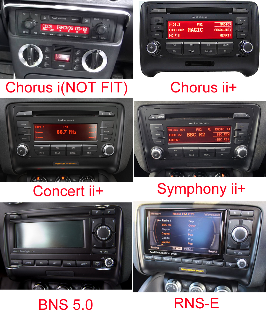 audi tt tts gps navigation car stereo 2006 2013. Black Bedroom Furniture Sets. Home Design Ideas