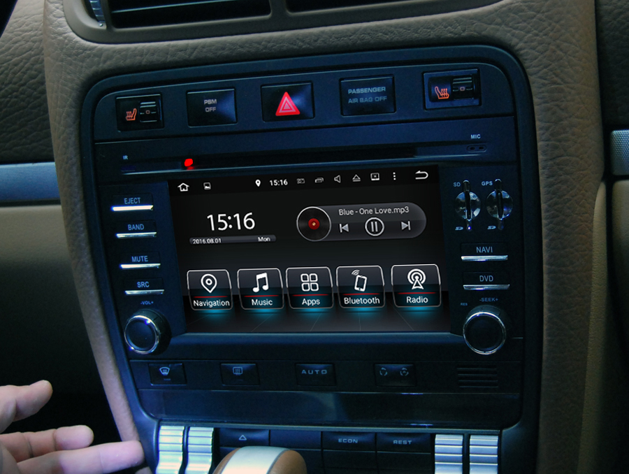 Porsche Cayenne  Aftermarket Navigation Head Unit
