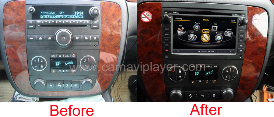gmc aftermarket navigation head unit