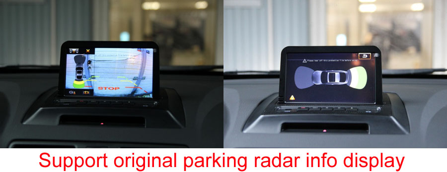 xc90 original parking radar info display
