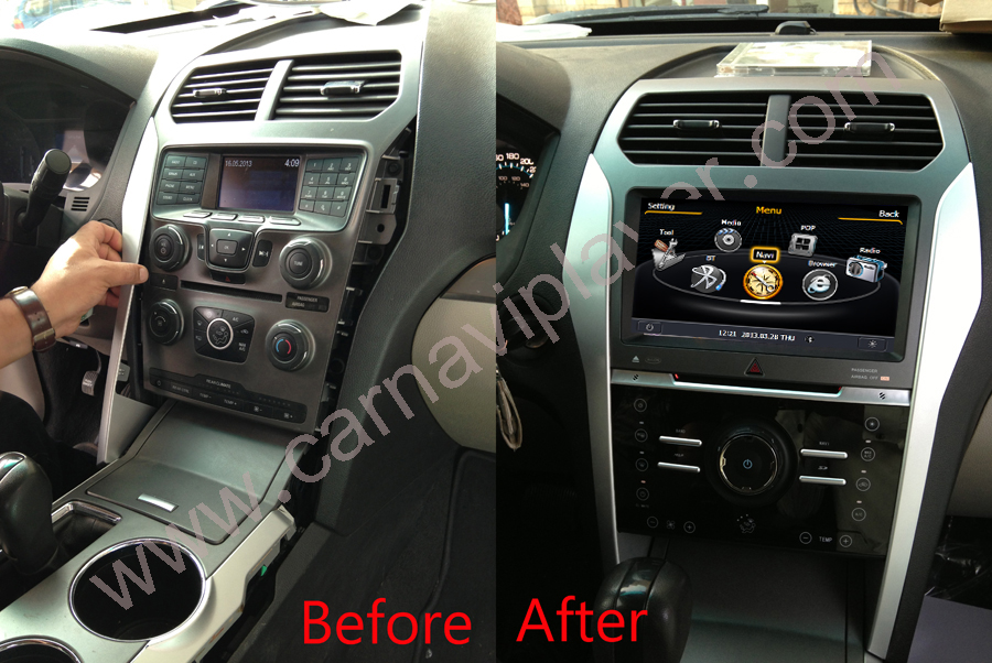 Aftermarket Navigation Head Unit For Ford Explorer 20102015rhcarnaviplayer: Ford Edge Radio Replacement At Gmaili.net