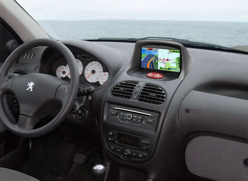 peugeot 206 autoradio gps dvd navigation system. Black Bedroom Furniture Sets. Home Design Ideas