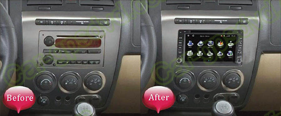 HUMMER H3 Aftermarket Navigation Head Unit