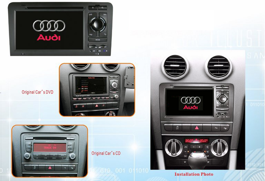 audi a3 s3 rs3 2003 2012 autoradio gps navigation head unit. Black Bedroom Furniture Sets. Home Design Ideas