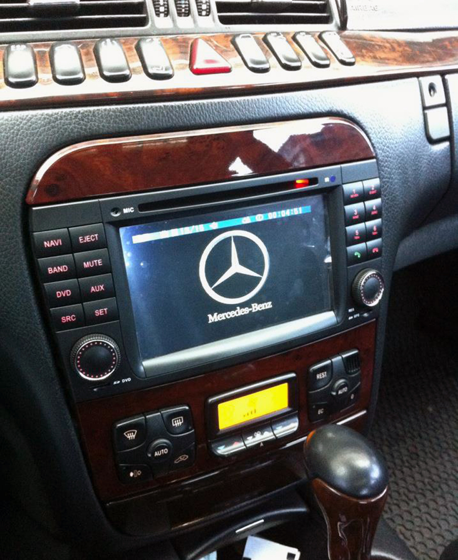 Mercedes benz cl w215 s w220 aftermarket navigation player for Mercedes benz audio upgrades