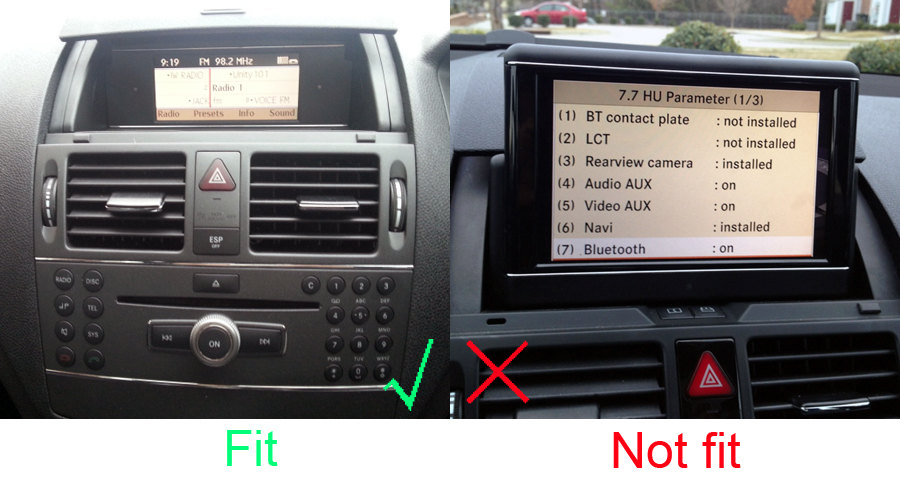 Mercedes Benz C Class 2007 2011 W204 radio upgrade