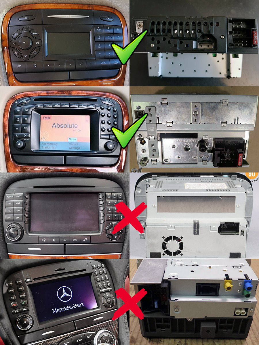 Mercedes-Benz SL-R230 Aftermarket Navigation Player
