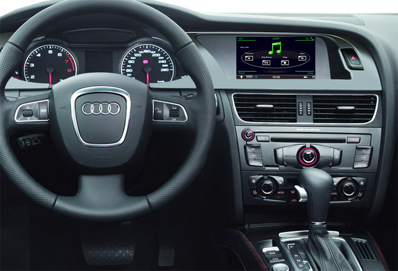 aftermarket navigation installed on audi A4