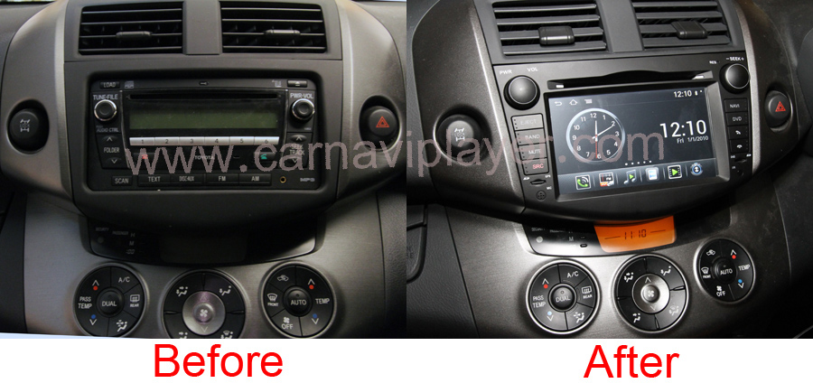 Aftermarket Backup Camera >> Android OS Navigation Radio Player For Toyota Rav4 2006 ...