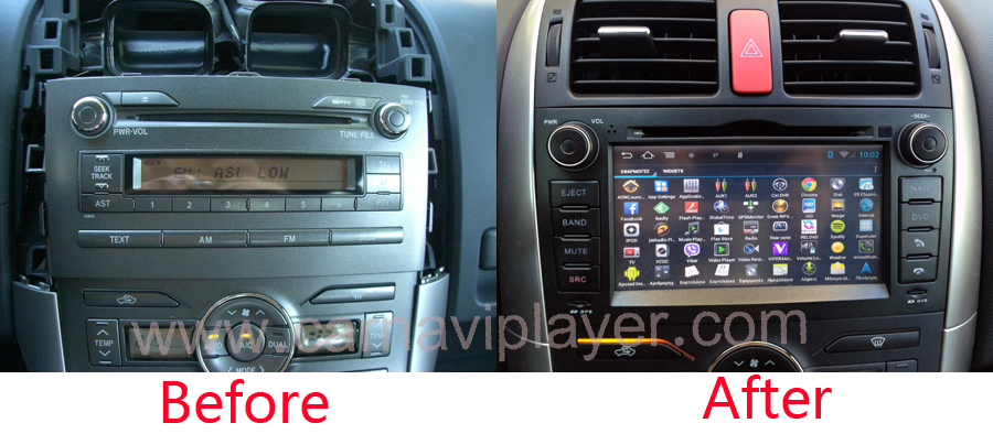 toyota auris android navigation head unit