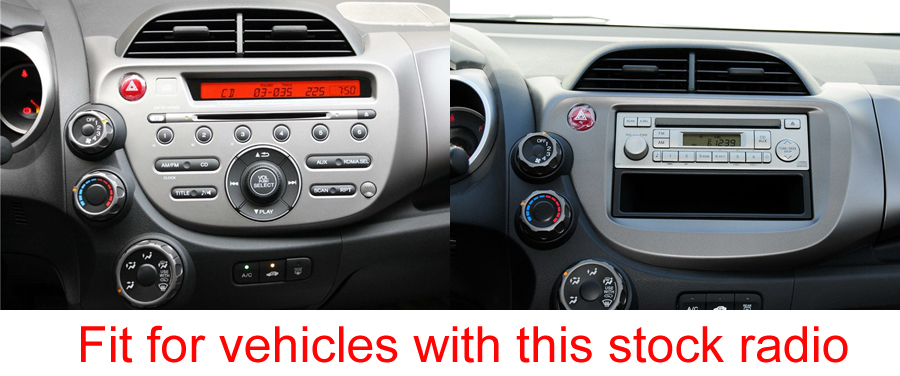 honda fit jazz aftermarket navigation head unit
