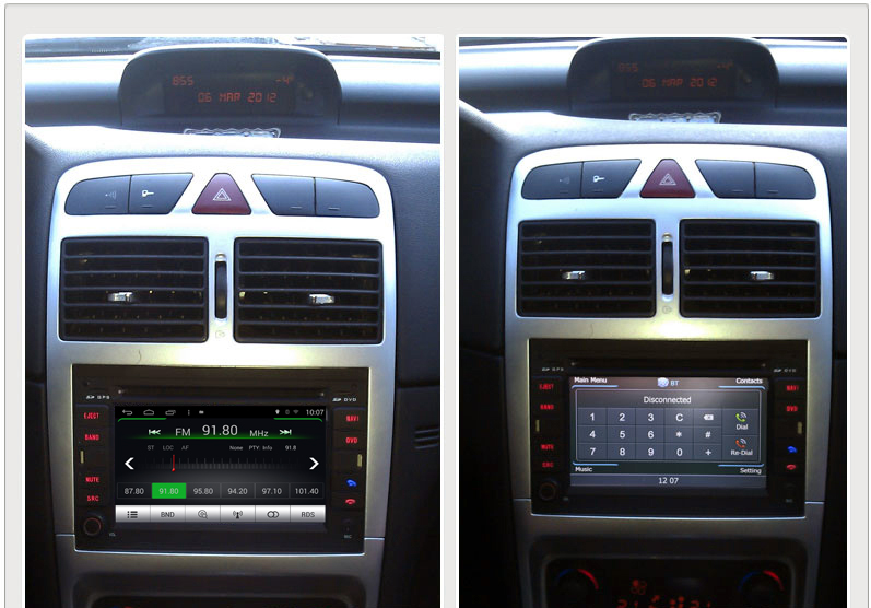 Android Os Navigation Radio Player For Peugeot 307