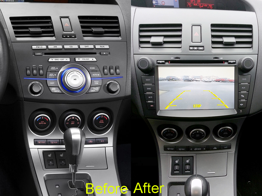 mazda 3 aftermarket gps navigation car stereo 2010 2013. Black Bedroom Furniture Sets. Home Design Ideas