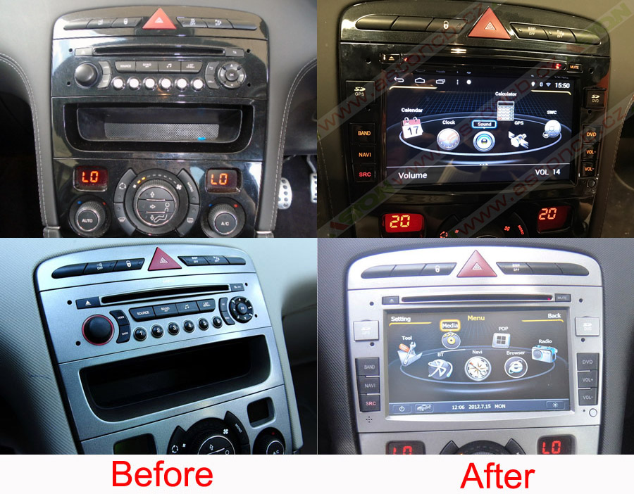 peugeot 308 rcz 2008 2012 navigation radio player. Black Bedroom Furniture Sets. Home Design Ideas