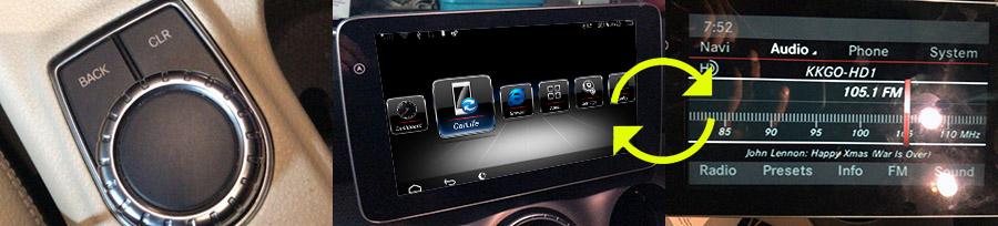 Mercedes-Benz A/B/CLA/G/GLA 2015-2018 radio upgrade : Aftermarket