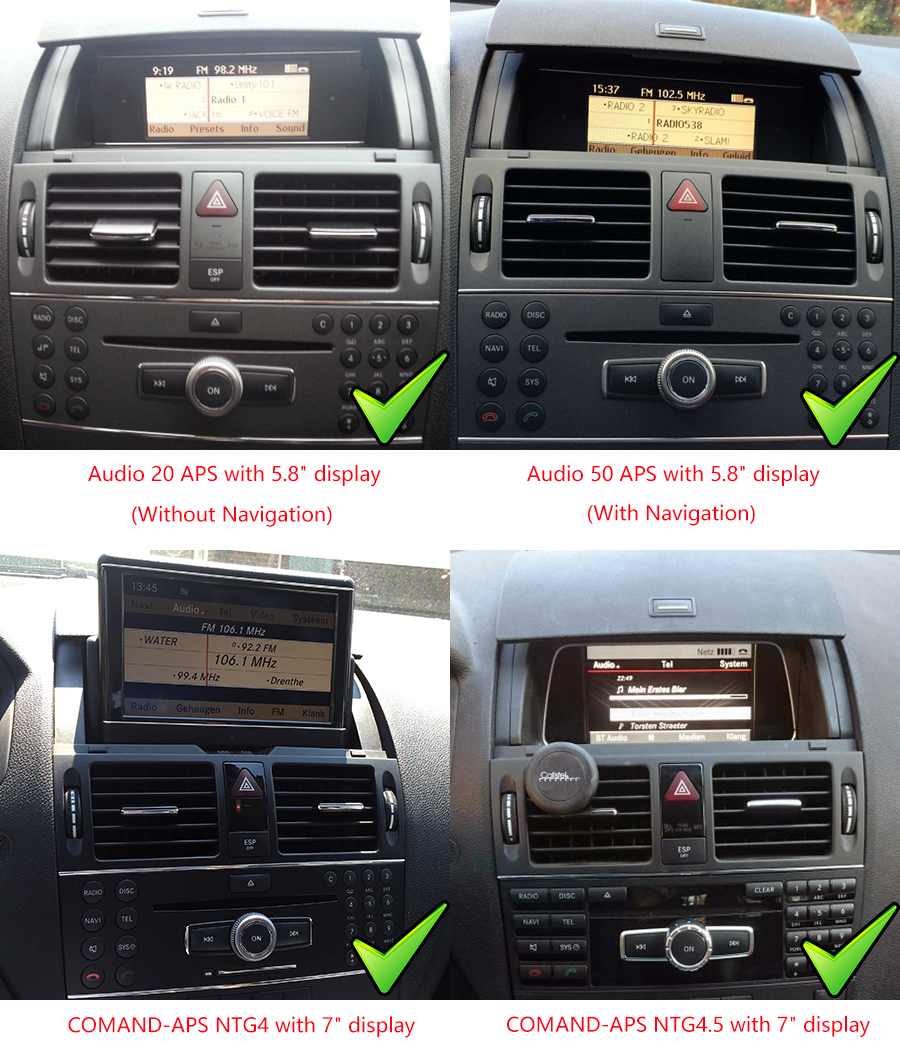 Mercedes-Benz C-Class 2007-2011 (W204) radio upgrade