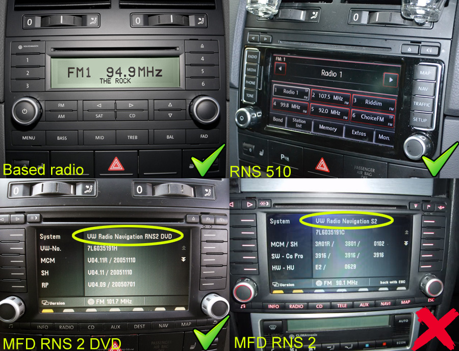 touared stock radio, dvd navigation, cd navigation, rns510