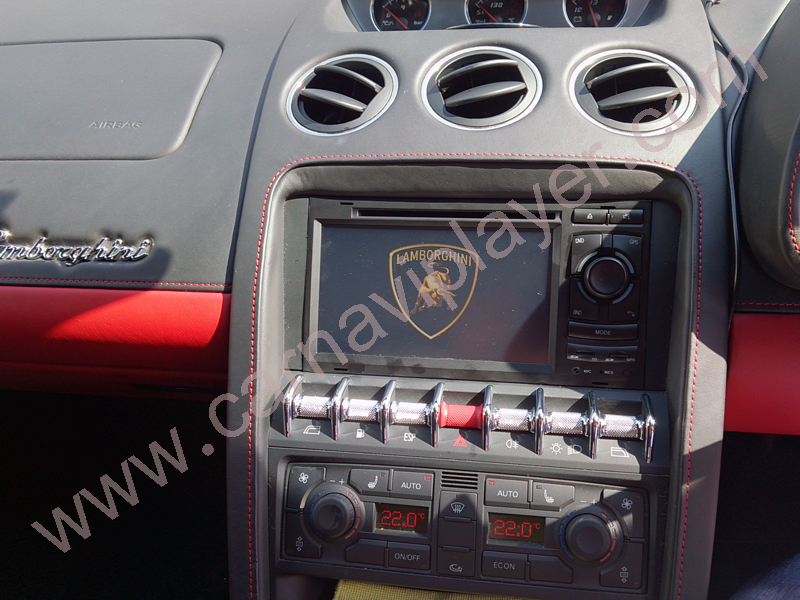 Lamborghini Gallardo aftermarket navigation head unit installation