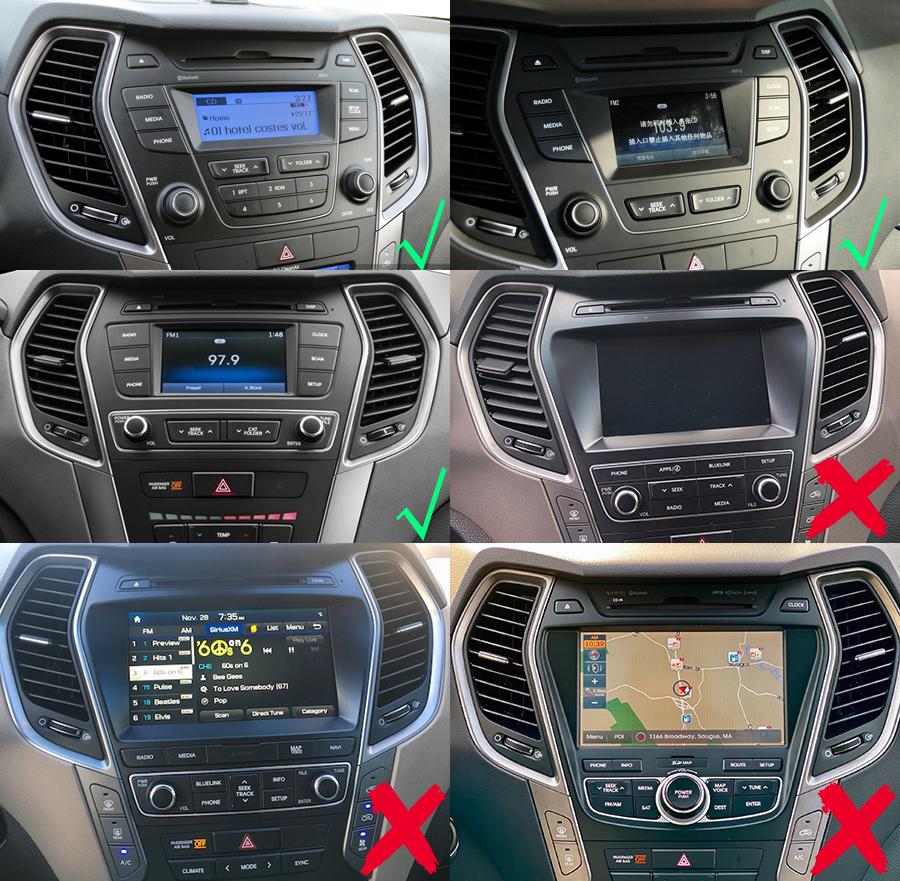Hyundai Santa Fe ix45 navigation