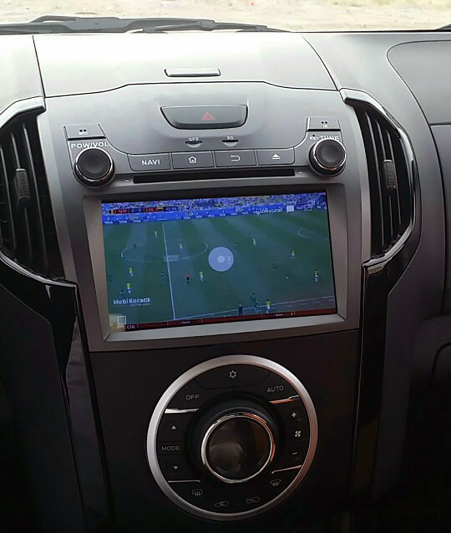 isuzu d-max aftermarket navigation head unit